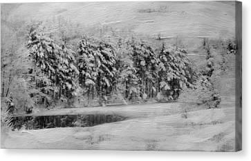 Winter Pond Canvas Print by Kathy Jennings