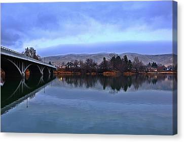 Canvas Print featuring the photograph Winter Reflection by Lynn Hopwood