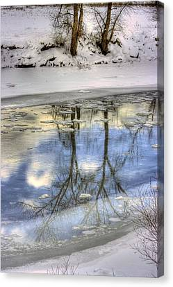 Winter Reflections Canvas Print by John  Greaves