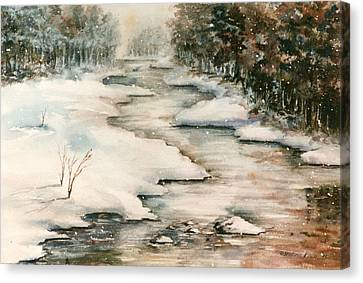Winter Reflections Canvas Print by Kristine Plum