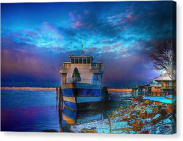Welcome Sun Breaking The Cold Canvas Print by Dennis Baswell