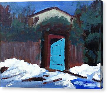 Winter Retreat Canvas Print by Roy Gould