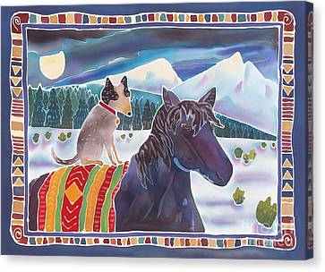 Winter Ride Canvas Print by Harriet Peck Taylor