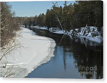 Canvas Print featuring the photograph Winter River I by Jessie Parker