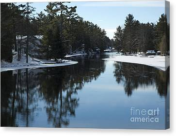 Canvas Print featuring the photograph Winter River II by Jessie Parker