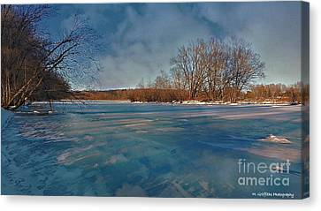 Winter River Canvas Print by Mike Griffiths