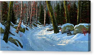 Winter Road Canvas Print by Frank Wilson