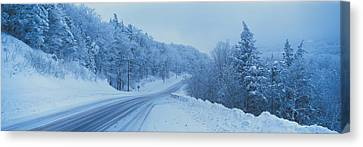 Winter Road Nh Usa Canvas Print by Panoramic Images
