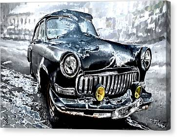 Winter Road Warrior Canvas Print by Pennie  McCracken