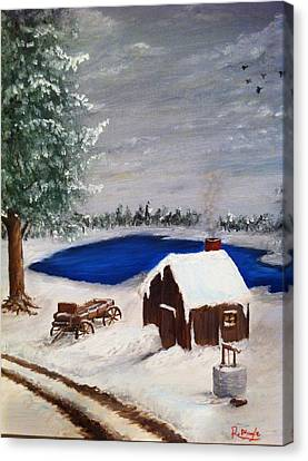Winter Canvas Print by Roy J Moyle