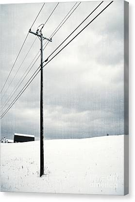Winter Rural Scene Canvas Print