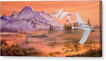 Winter Sanctuary Canvas Print by Sherry Shipley