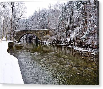 Winter Scene At Valley Green Canvas Print by Bill Cannon
