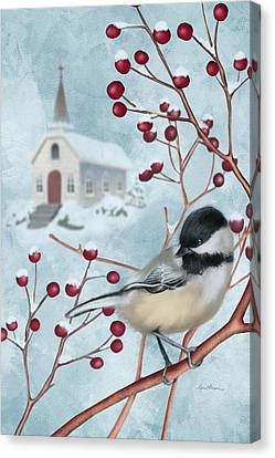 Jesus Canvas Print - Winter Scene I by April Moen
