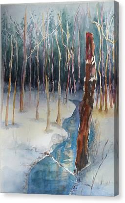 Winter Scene Canvas Print by Lori Chase