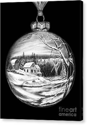 Winter Scene Ornament Canvas Print by Peter Piatt