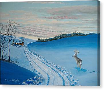 Winter Sentinel Canvas Print by Norm Starks