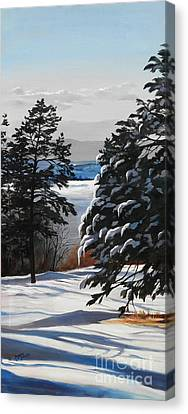 Winter Serenity Canvas Print by Suzanne Schaefer