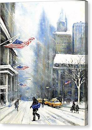 Winter Snow Nyc Canvas Print