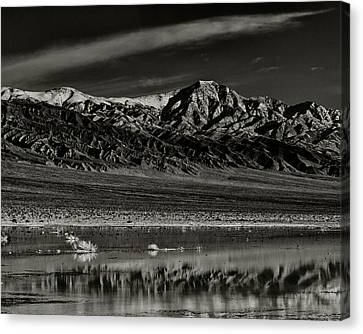Panamint Valley Canvas Print - Winter Snow Panamint Range Inyo County Ca by Troy Montemayor