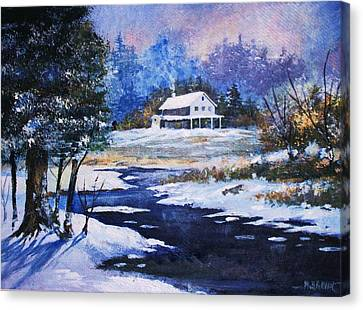 Winter Solitude Canvas Print by Al Brown