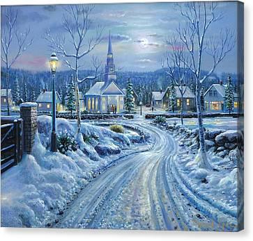 Winter Solitude Canvas Print