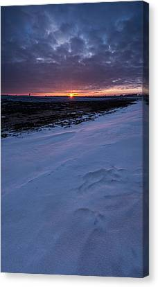Snow Drifts Canvas Print - Winter Solstice  by Aaron J Groen