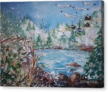 Winter Solstice Canvas Print by Ellen Levinson