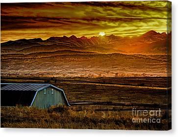 Winter Solstice Canvas Print by Jon Burch Photography