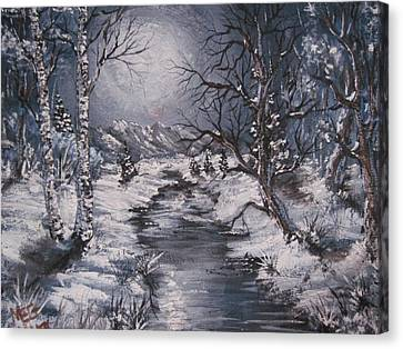 Winter Solstice Canvas Print by Megan Walsh