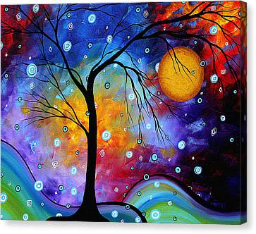 Winter Sparkle Original Madart Painting Canvas Print by Megan Duncanson