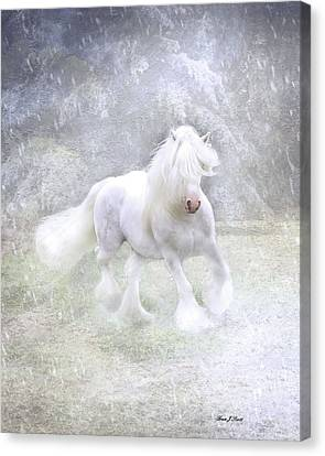Horse Artwork Canvas Print - Winter Spirit by Fran J Scott