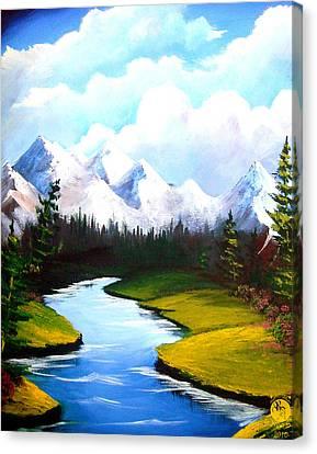 Winter Spring Canvas Print by Richard Bantigue