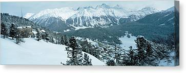 Winter, St Moritz, Switzerland Canvas Print by Panoramic Images