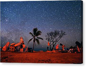 Winter Star Party Under Stars Canvas Print by Tony & Daphne Hallas