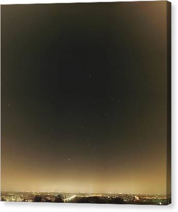 Winter Stars And Light Pollution Canvas Print by Eckhard Slawik