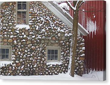 Canvas Print featuring the photograph Winter Stone Pattern by Randy Pollard