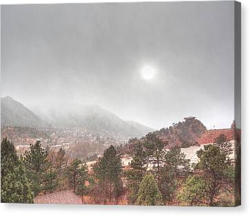 Winter Storm In Summer With Sun Canvas Print by Lanita Williams