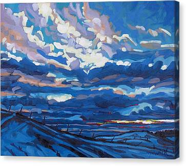 Oil Canvas Print - Winter Stratocumulus by Phil Chadwick