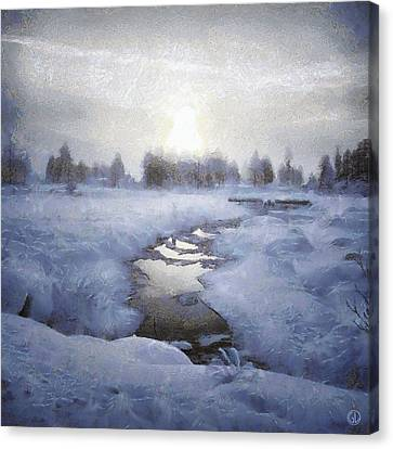 Winter Stream Canvas Print by Gun Legler