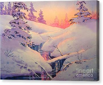 Winter Sun Canvas Print by Teresa Ascone