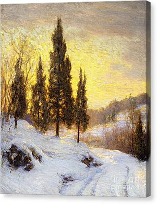Winter Sundown Canvas Print by Walter Launt Palmer