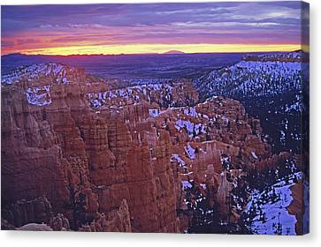 Canvas Print featuring the photograph Winter Sunrise At Bryce Canyon by Susan Rovira