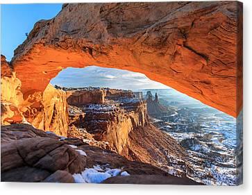 Winter Sunrise At Mesa Arch Canvas Print