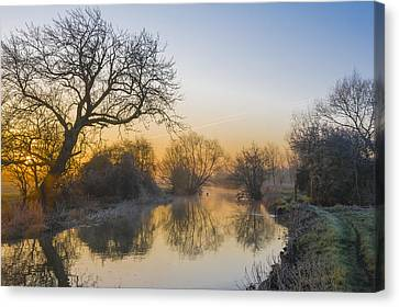 Canvas Print featuring the photograph Winter Sunrise by Trevor Chriss