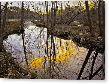 Canvas Print featuring the photograph Winter Sunset At Williston Mill by Brian Wallace