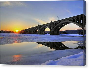 Winter Sunset Canvas Print by Dan Myers