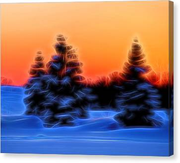 Winter Sunset Canvas Print by Dan Sproul