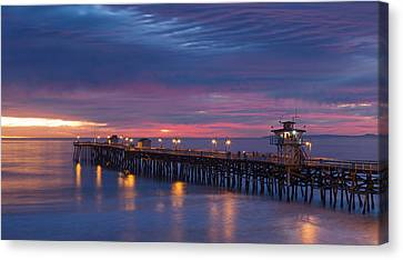 Winter Sunset San Clemente Canvas Print by Cliff Wassmann