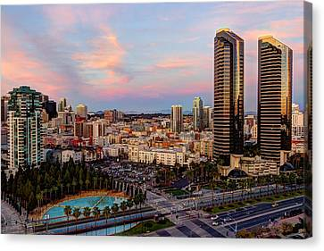 Canvas Print featuring the photograph Winter Sunset San Diego by Heidi Smith